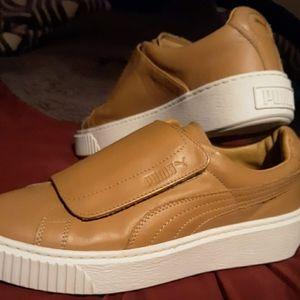 PUMA Basket Platform Strap Sneakers